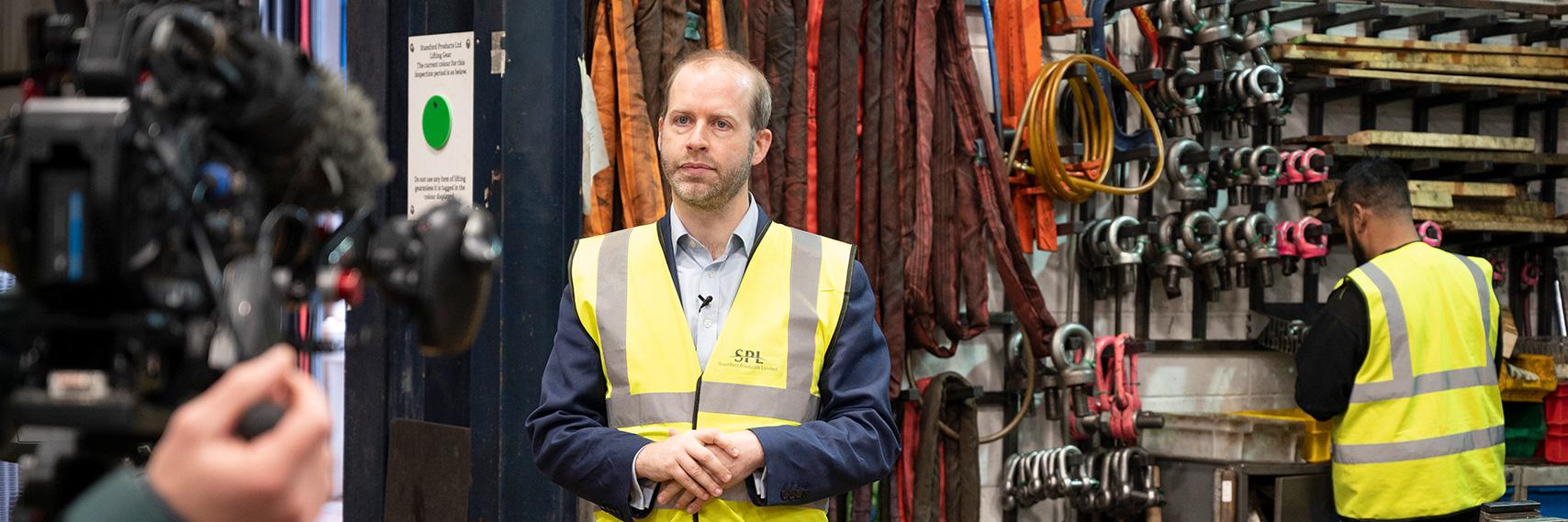 Jonathan-Reynolds-MP-Visiting-Mailbox-Products